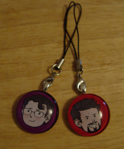 Bruce and Tony Handmade Charms by Taneka Stotts